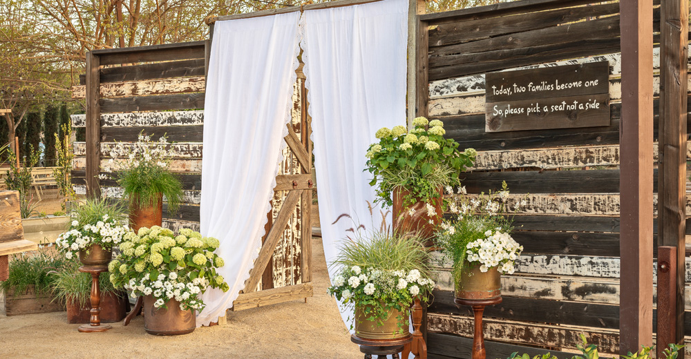 wedding entryway