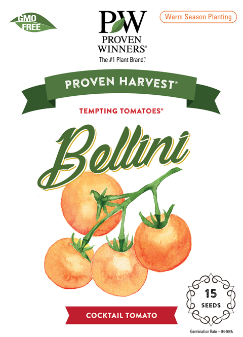 Bellini tomato seed packet front