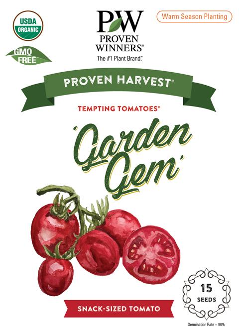 garden gem seed packet front