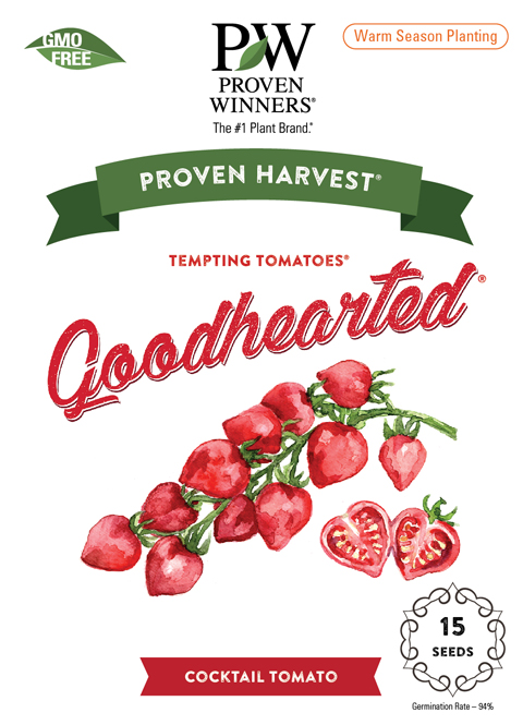 goodhearted tomato seed packet front