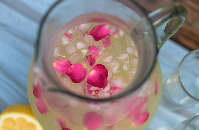 honey rosewater lemonade